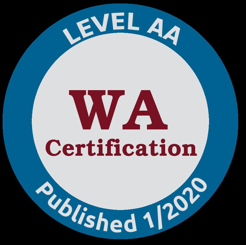 WA Certification 1/2020